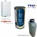 Centrala termica Vitodens 100-W 35 kw, Boiler solar 300 Dedurizator